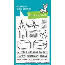 Lawn Fawn Clear Stamp - Special Delivery Box Add-On