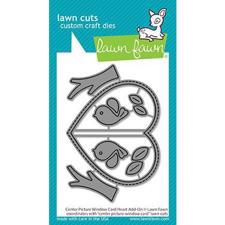 Lawn Cuts - Center Picture Window Card Heart Add-On - DIES