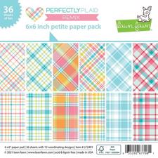 "Lawn Fawn Paper Pad 6x6"" - Perfectly Plaid Remix"
