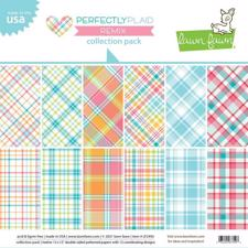 "Lawn Fawn Collection Pack 12x12"" - Perfectly Plaid Remix"