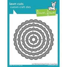 Lawn Cuts - Just Stitching: Scalloped Circles - DIES