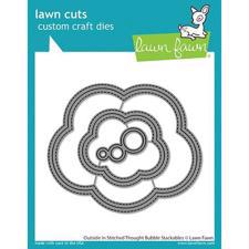 Lawn Cuts - Outside In Stitched Thought Bubble Stackables - DIES