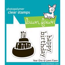 Lawn Fawn Clear Stamp - Year One (Cake)