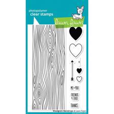 Lawn Fawn Clear Stamp - Woodgrain Backdrops