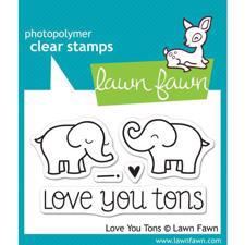 Lawn Fawn Clear Stamp - Love You Tons