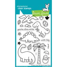 Lawn Fawn Clear Stamp Set - Critters From The Past