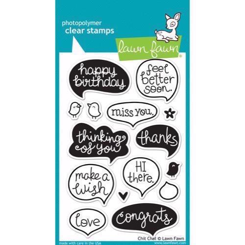 Lawn Fawn Clear Stamp Set - Chit Chat