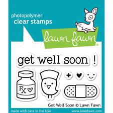 Lawn Fawn Clear Stamp Set - Get Well Soon