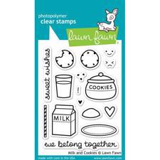 Lawn Fawn Clear Stamp - Milk & Cookies