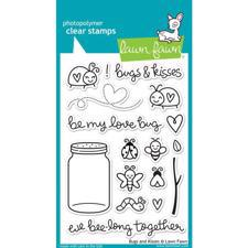 Lawn Fawn Clear Stamp Set - Bugs & Kisses