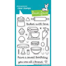 Lawn Fawn Clear Stamp Set - Baked With Love