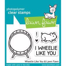 Lawn Fawn Clear Stamp - Wheelie Like You