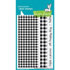 Lawn Fawn Clear Stamp - Gingham Backdrops