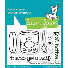 Lawn Fawn Clear Stamp - Treat Yourself