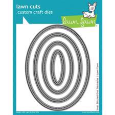 Lawn Cuts - Small Stitched Oval - DIE