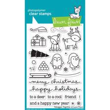 Lawn Fawn Clear Stamps - Toboggan Together