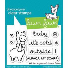 Lawn Fawn Clear Stamps - Winter Alpaca
