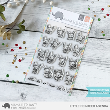 Mama Elephant Clear Stamp Set - Little Reindeer Agenda