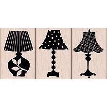 Wood Stamp Set - Decorative Lamps