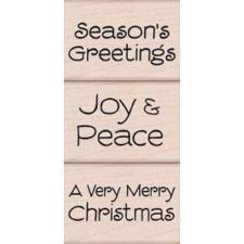 Wood Stamp Set - A Very Merry