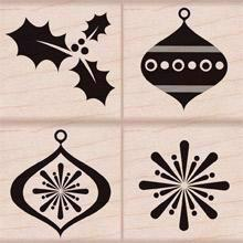 Hero Arts Wood Stamp Set - Christmas Decorations