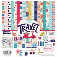 "Carta Bella Scrapbook Paper Collection Kit 12x12"" - Let's Travel"