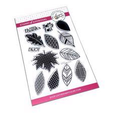 Catherine Pooler Stamps - Leaf Motifs