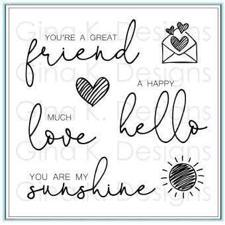 Gina K Design Clear Stamps - Lovely Words