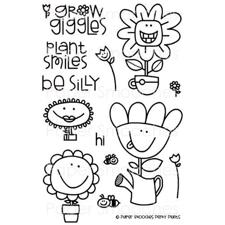 Paper Smooches Clear Stamp Set - Perky Plants