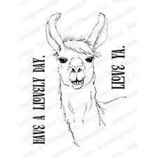 IO Stamps Clear Stamp - Llama Love