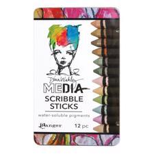 Dina Wakley Media - Scribble Sticks Set #3 (12 stk.) pastel & metallics