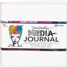 "Dina Wakley Media - 6x6"" White Journal"