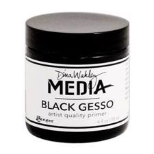 Dina Wakley Media - Gesso / Black (SORT) 118 ml (dåse)