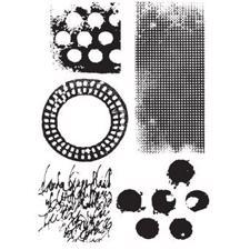 Dina Wakley Cling Rubber Stamp Set - Textures