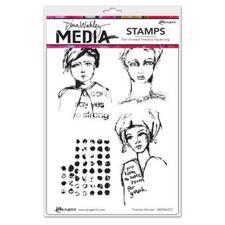 Dina Wakley Cling Rubber Stamp Set - Positive Women