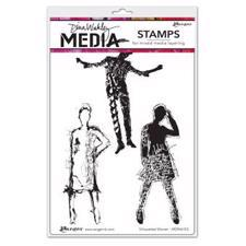 Dina Wakley Cling Rubber Stamp Set - Silhouetted Women