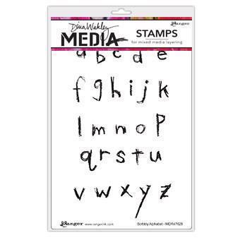 Dina Wakley Cling Rubber Stamp Set - Scribbly Alphabet