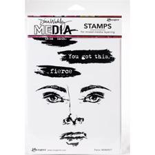Dina Wakley Cling Rubber Stamp Set - Fierce