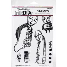 Dina Wakley Cling Rubber Stamp Set - Funny Peeps