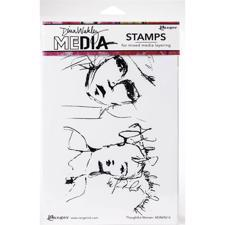 Dina Wakley Cling Rubber Stamp Set - Thoughtful Women