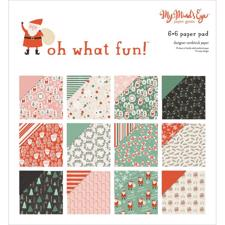 "My Minds Eye Paper Pad 6x6"" - Oh What Fun"