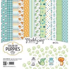 "ModaScrap Paper Pack 12x12"" - Color of Puppies Boy"