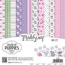 "ModaScrap Paper Pack 6x6"" - Color of Puppies Girl"
