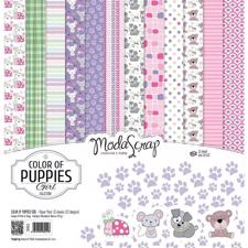 "ModaScrap Paper Pack 12x12"" - Color of Puppies Girl"