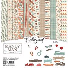 "ModaScrap Paper Pack 12x12"" - Manly Man"