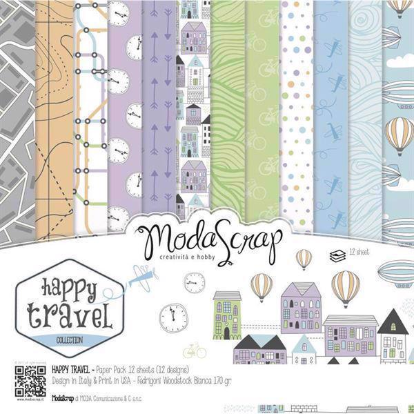 "ModaScrap Paper Pack 12x12"" - Happy Travel"