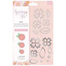 Crafters Companion Stamp & Die - Spring is in the Air / Aster