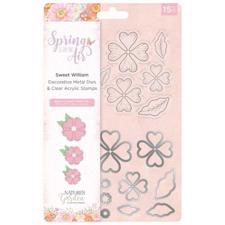 Crafters Companion Stamp & Die - Spring is in the Air / Sweet William