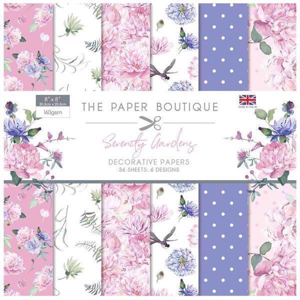 "The Paper Boutique Paper Pad 8x8"" - Serenity Gardens"