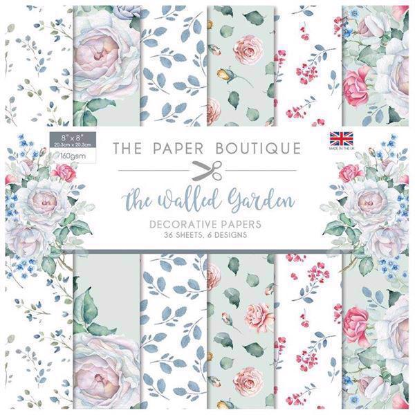 "The Paper Boutique Paper Pad 8x8"" - The Walled Garden"